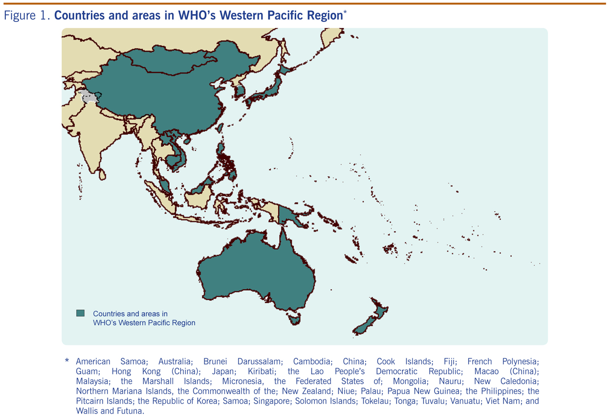 Seasonal Influenza Vaccine Policies Recommendations And Use In - West pacific islands map 1998